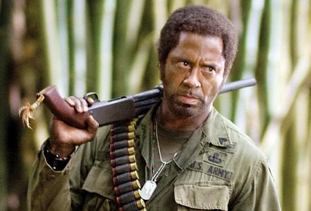 Robert Downey Jr. as Kirk Lazarus as Sgt. Osiris in Tropic Thunder
