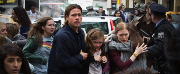 Brad Pitt and Mireille ENos in Paramount's World War Z