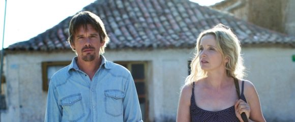 Ethan Hawke and Julie Delpy in Before Midnight, 2013.