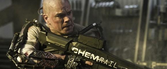 Matt Damon in Neil Blomkamp's Elysium (2013).