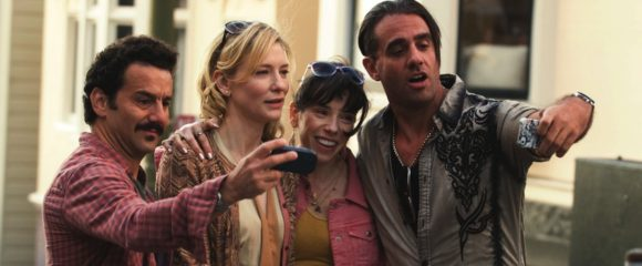 Max Casella, Cate Blanchett, Sally Hawkins and Bobby Cannvale in Woody Allen's Blue Jasmine (2013)
