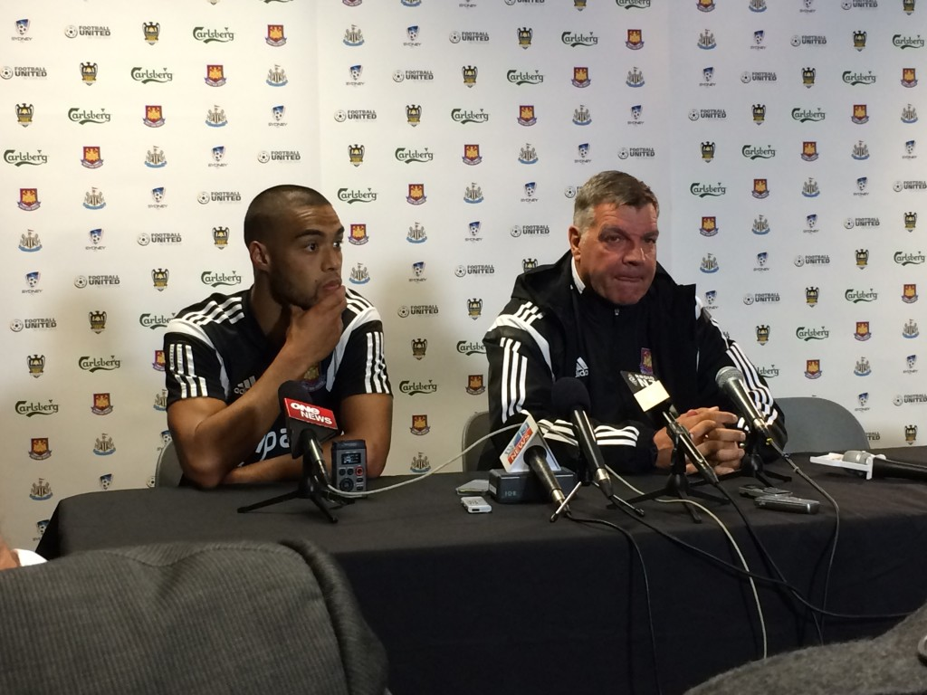 West Ham press conference after the their loss to the Phoenix at Eden Park. I think they are much happier affairs now.